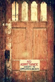 No Admittance 8 X 12