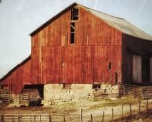 Red Barn, Missouri Morning 8 X 10